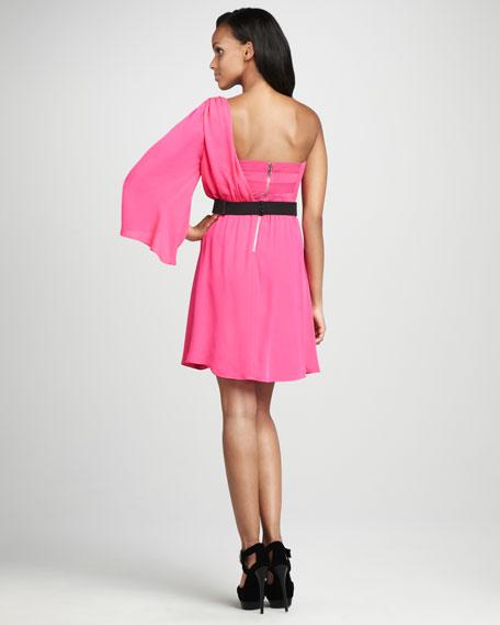 Azure Single-Sleeve Dress