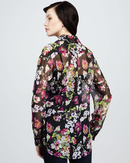 Signature Floral-Print Blouse