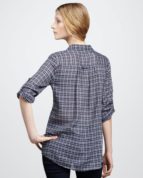 Pinot Plaid Top