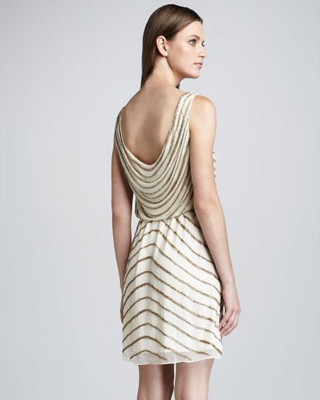Gisele Bead-Stripe Dress