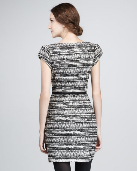 Starfest Lace-Stripe Dress