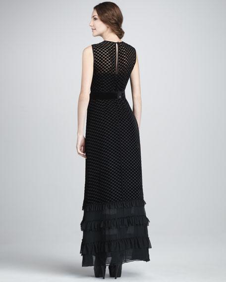 Get On Board Velvet Gown