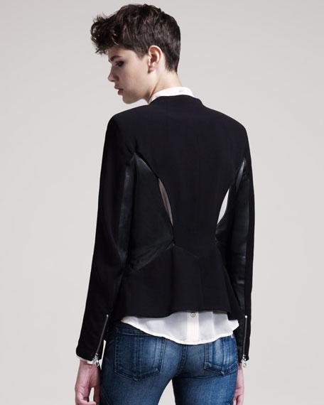Lauren Leather-Panel Jacket