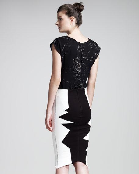 Organto Colorblock Skirt