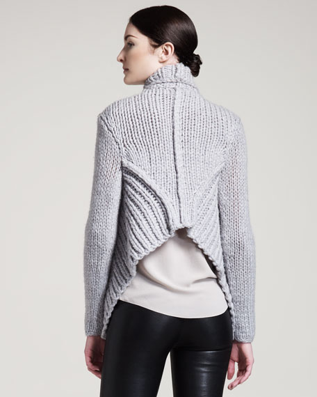 Augmented Wool Cardigan