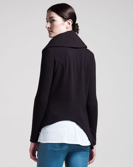 Soft Zip Sweatshirt, Black