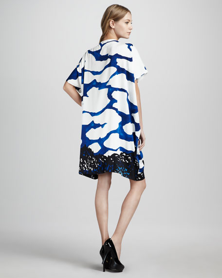 Diane Hanky Sky Scarf Printed Dress