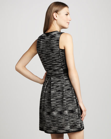 Space-Dye Knit Pleated Dress