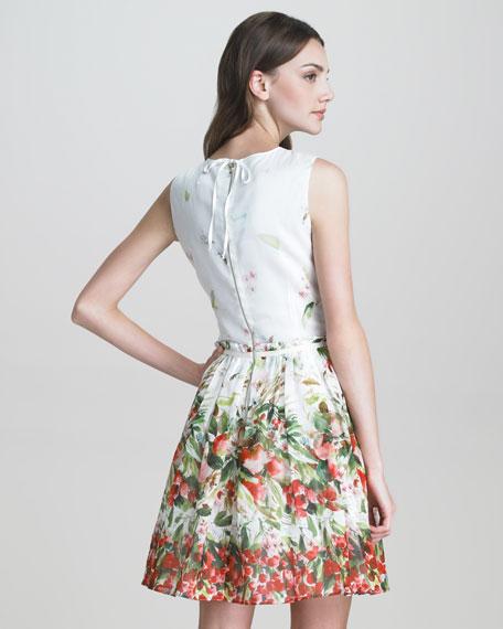 Strawberry-Print Cotton Dress