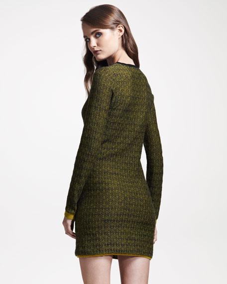 Clea Jacquard Sweater Dress