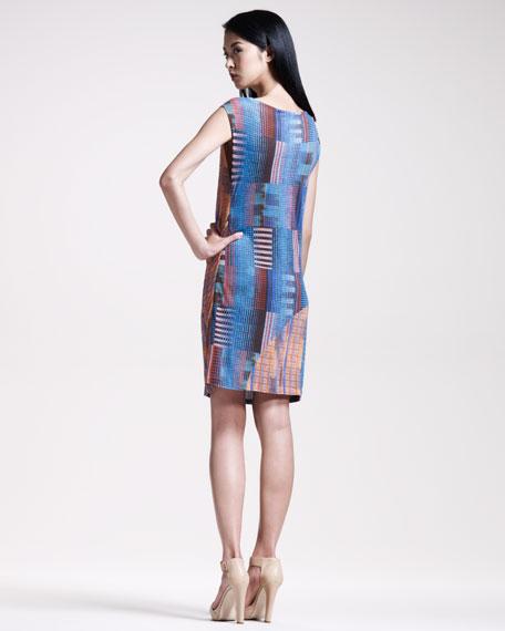 Asymmetric Check Dress