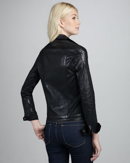 Black Lacquer Motorcycle Jacket