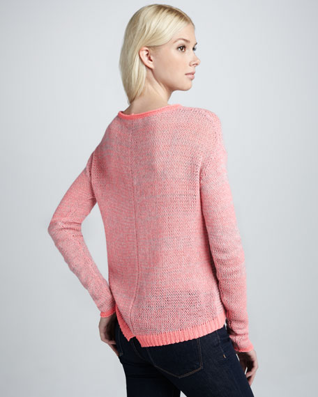Marbled Knit Pullover