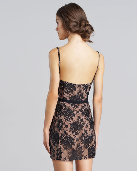 Spaghetti-Strap Lace Dress