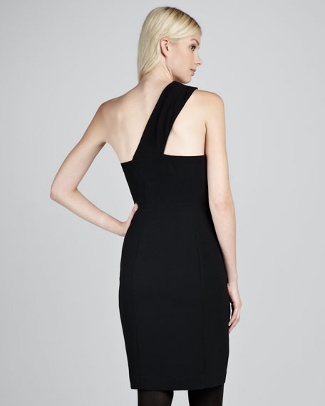 Ashlee Crepe Dress, Black