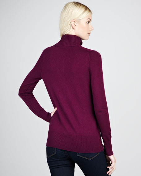 Audra Mock-Neck Sweater, Pretty Violet