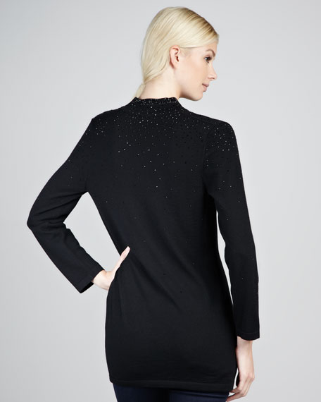 Carly Speckled Tunic, Black