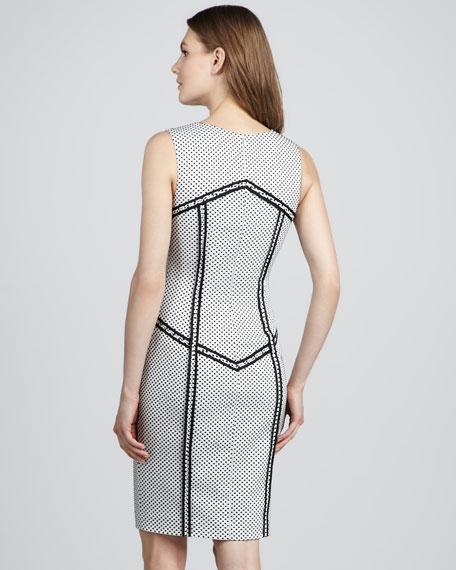 Elsa Outlined Polka-Dot Dress