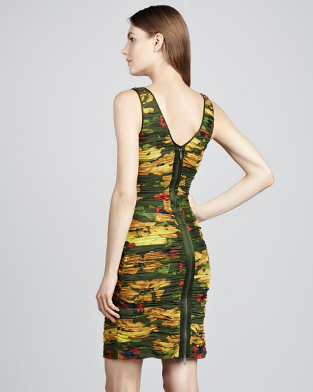 Maddy Printed Ruched Dress
