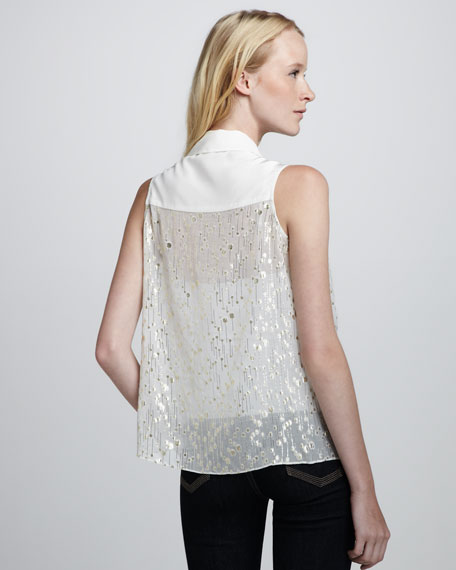 Owen Sheer Metallic Blouse