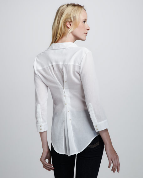 Cohen Textured Sheer Blouse