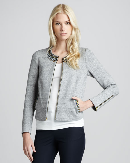 Quinn Bead-Trim Jacket
