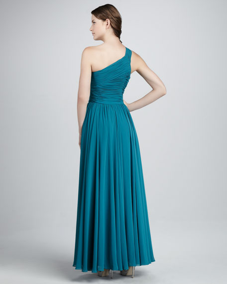 One-Shoulder Slit Gown