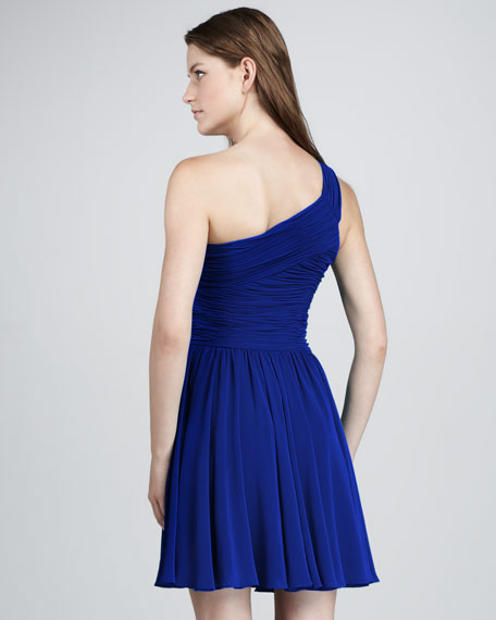Ruched-Top Cocktail Dress