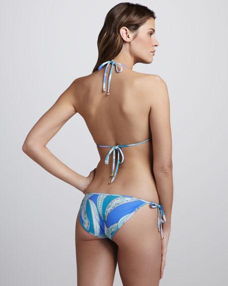 Zagare Printed String Bikini, Pervinca