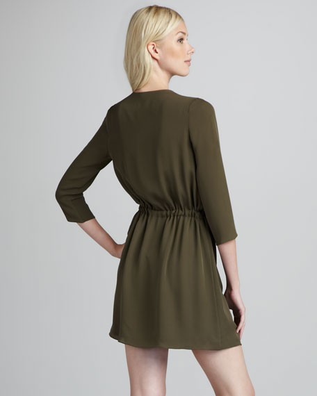 Ivona Zip-Detail Dress