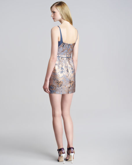 Metallic Cloque Minidress