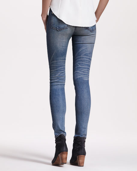 Distressed Skinny Monument Jeans