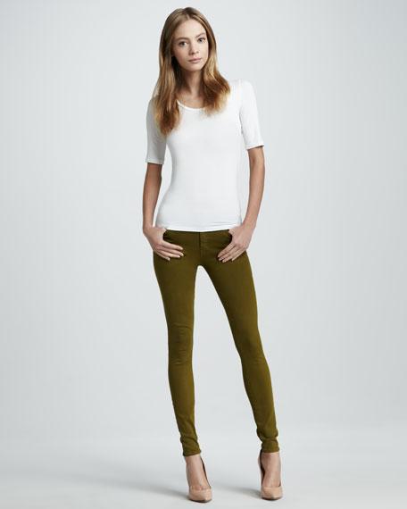 Skinny Avocado Stretch Jeans