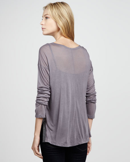 Layered Sequined Jersey Top