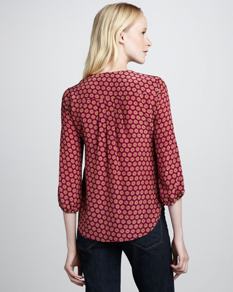Brilliant Printed Silk Top