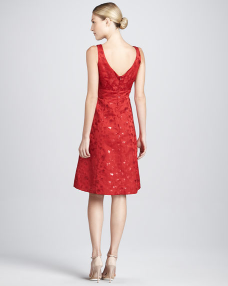 Metallic Jacquard Cocktail Dress