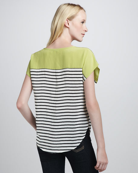 Agacia Striped Combo Top