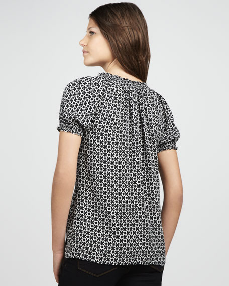Masha Star-Print Short-Sleeve Top