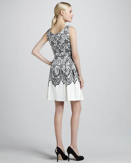 Jessy Lace-Print Dress