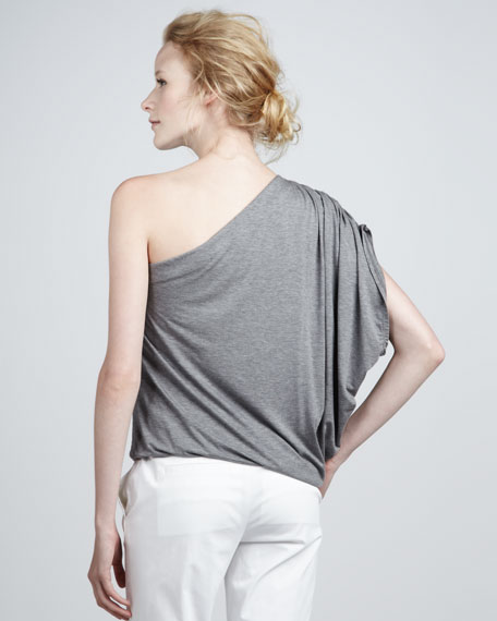 One-Shoulder Draped Top