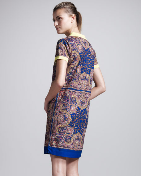 Kaleidoscope-Print Polo Dress