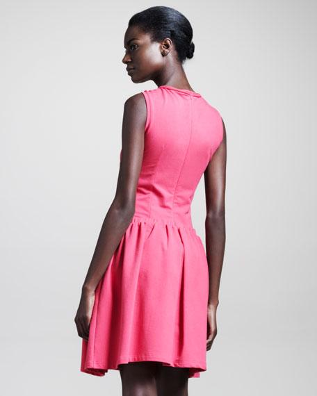 Molleton Sleeveless Cotton Dress