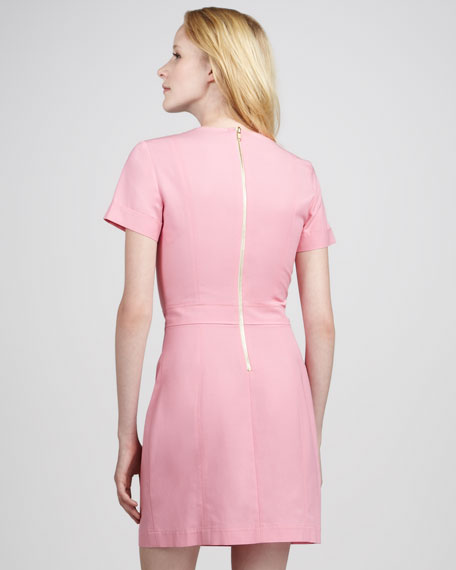 Inessa Fitted Sateen Dress