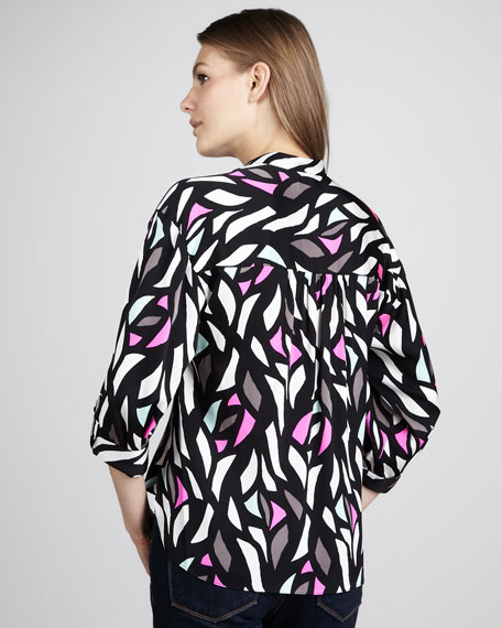 Stain-Glass-Print Blouse