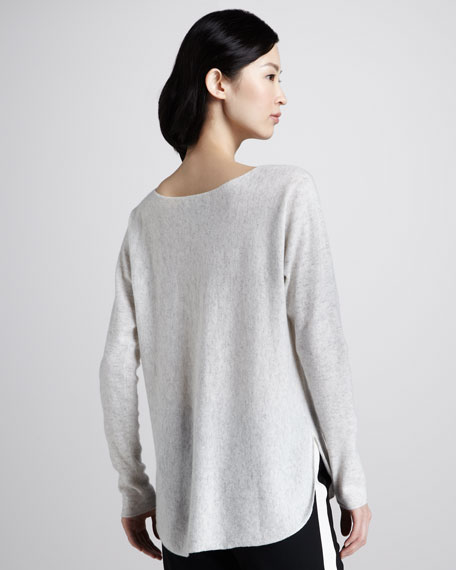 Cashmere Shirttail Sweater
