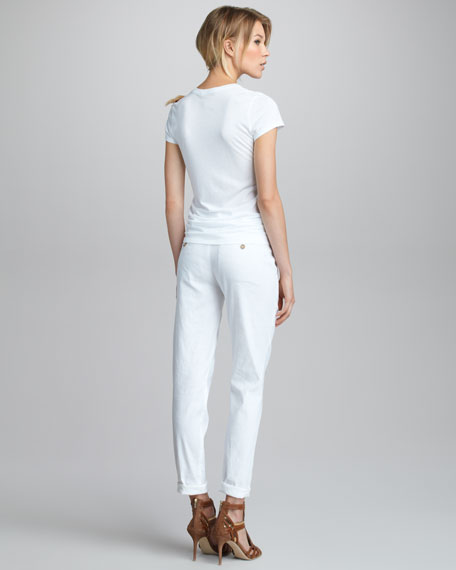Straight-Leg Stretch Trousers