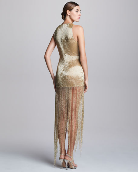 Sequined Fringe Dress