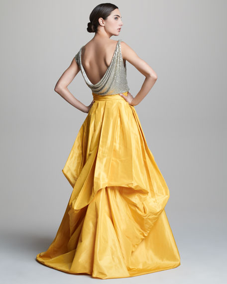 Cowl-Neck Pickup Gown