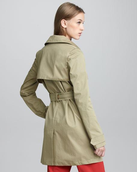 Short Twill Trenchcoat