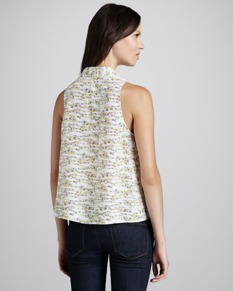 Mina Printed Sleeveless Blouse